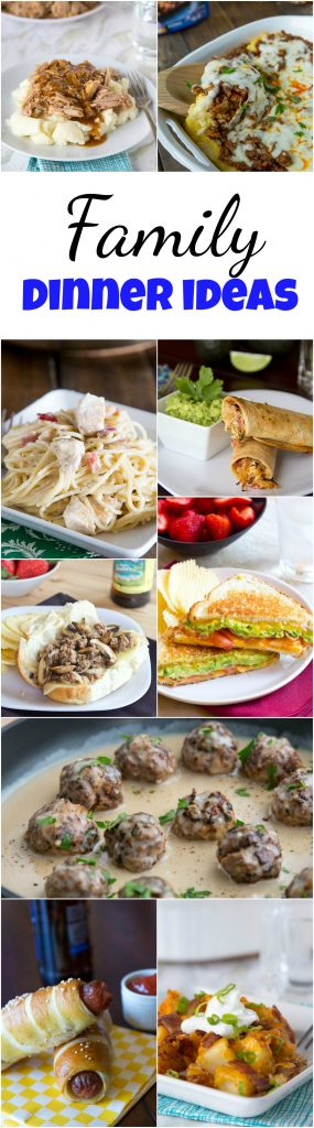 family dinner ideas pin collage