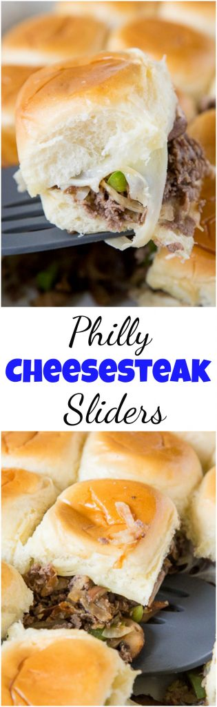 Philly Cheesesteak Sliders collage