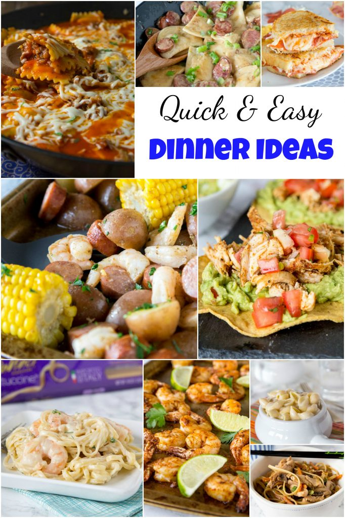 Quick and easy dinner ideas dinners dishes and desserts quick and easy dinner collage forumfinder Images
