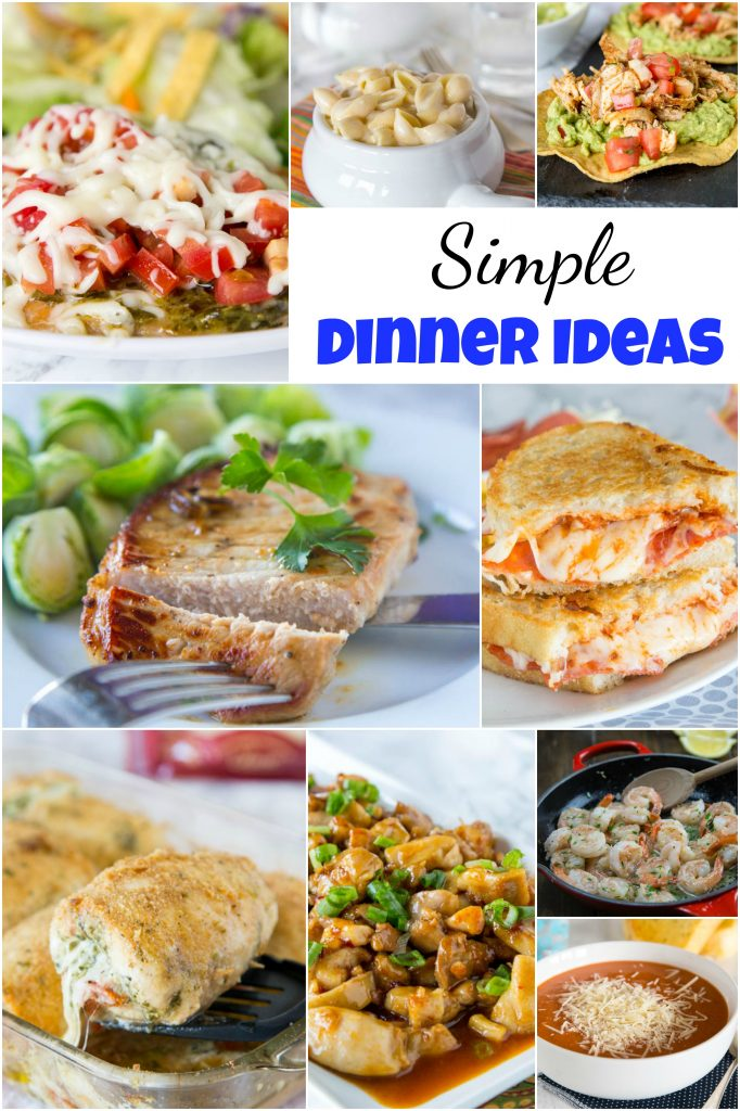 Simple Dinner Ideas collage