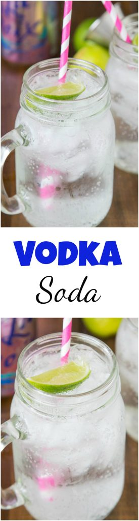 Vodka Soda Recipe Collage