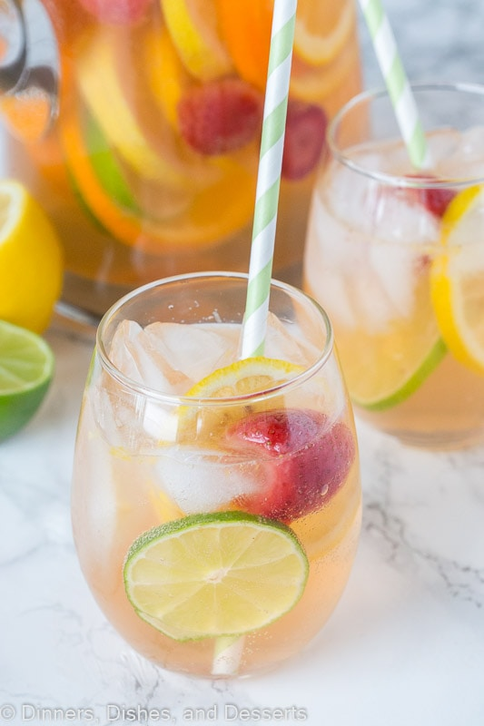 White wine sangria with citrus