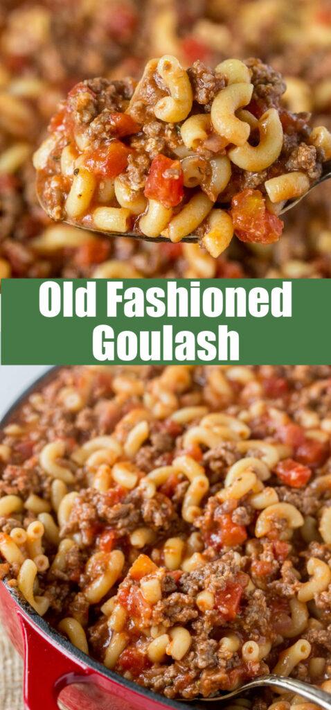 goulash close up in pan
