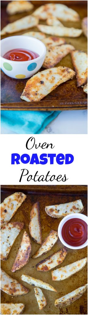 oven roasted potatoes collage