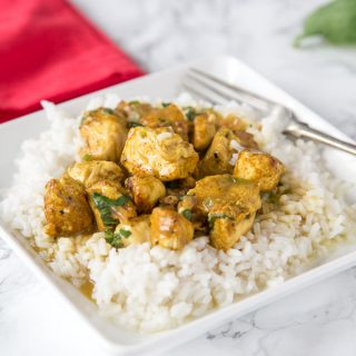 Basil Coconut Chicken Curry