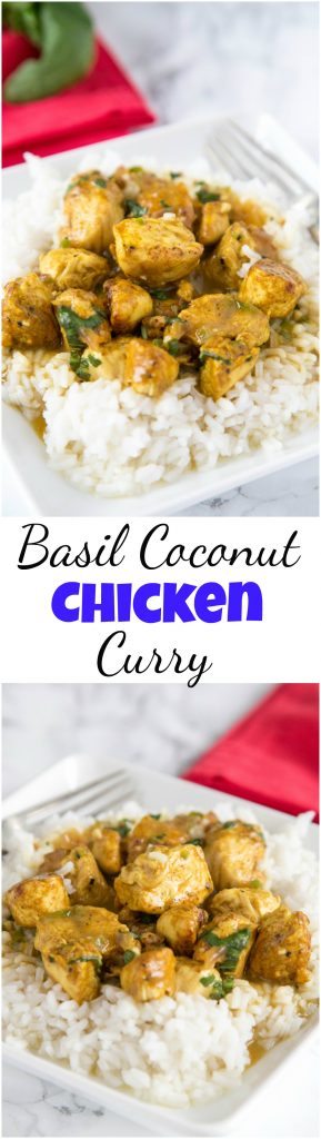 basicl coconut chicken curry collage