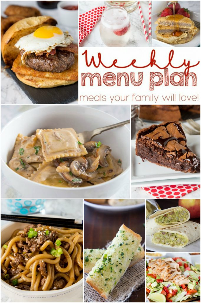 Weekly Meal Plan Week 149 - Make the week easy with this delicious meal plan. 6 dinner recipes, 1 side dish, 1 dessert, and 1 fun cocktail make for a tasty week!