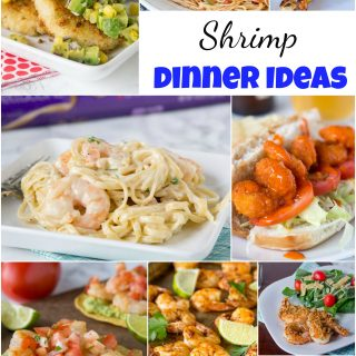 Shrimp Dinner Ideas - Shrimp is a great go to for dinner, it cooks super fast and is good for you too!  These easy shrimp recipes will be become your go to dinner ideas! #shrimprecipes #dinnerideas #food #recipe #dinnerisserved