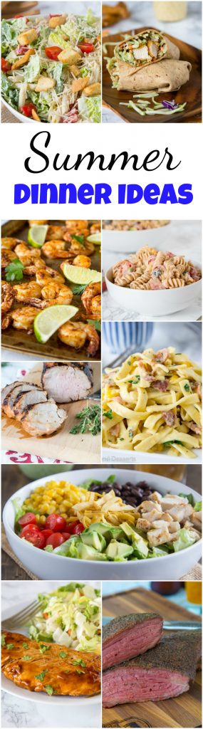 Summer Dinner Ideas - Don't want to heat up the house when it is so hot out?  Here are 25 great summer dinner ideas that don't take long to make, use what is in season and are delicious!