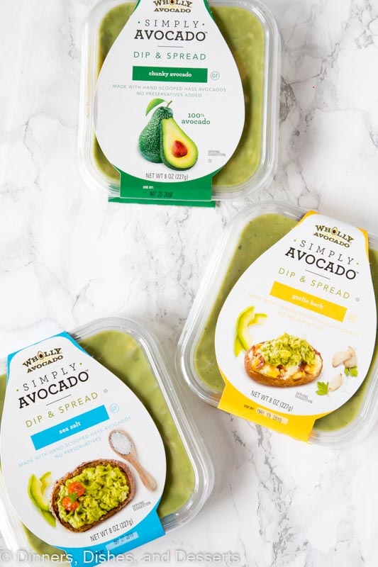 package of simply avocado dip on a table