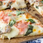 Mushroom and Ham White Pizza