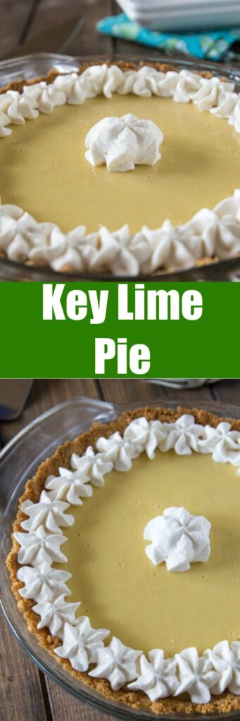 Key Lime Pie - Just 3 simple ingredients to make this delicious, sweet, tart and creamy pie!