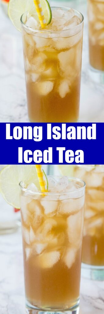 A close up of a long island iced tea in a glass