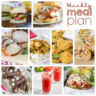 Weekly Meal Plan Week 159 - Make the week easy with this delicious meal plan. 6 dinner recipes, 1 side dish, 1 dessert, and 1 fun cocktail make for a tasty week!