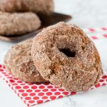 Apple Cider Donuts - fall is for apples, apple cider, and donuts!  These Apple Cider donuts are just like the ones at the orchard. Full of apple flavor and dusted with cinnamon and sugar.