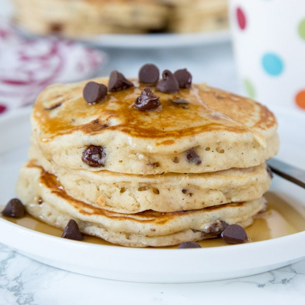 Chocolate Chip Banana Pancakes