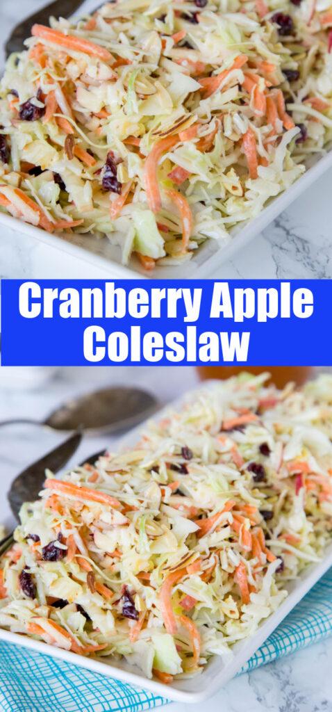 close up creamy coleslaw