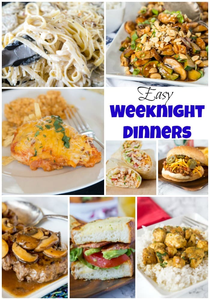 Easy Weeknight Dinners - make busy weeknights easy with lots of easy weeknight dinner ideas.  Dinner doesn't have to be complicated for the whole family to love it.