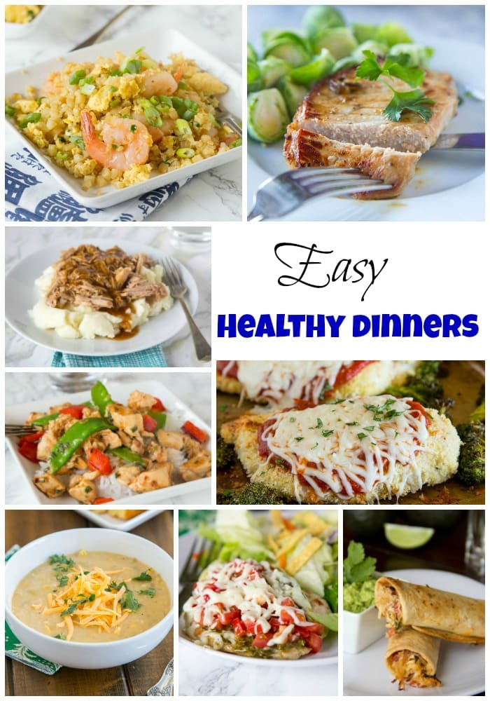 Easy Healthy Dinner Recipes - Get a healthy dinner on the table fast any night of the week.  Dinner doesn't have to be complicated and you can feel good about feeding these healthy dinners to your family.