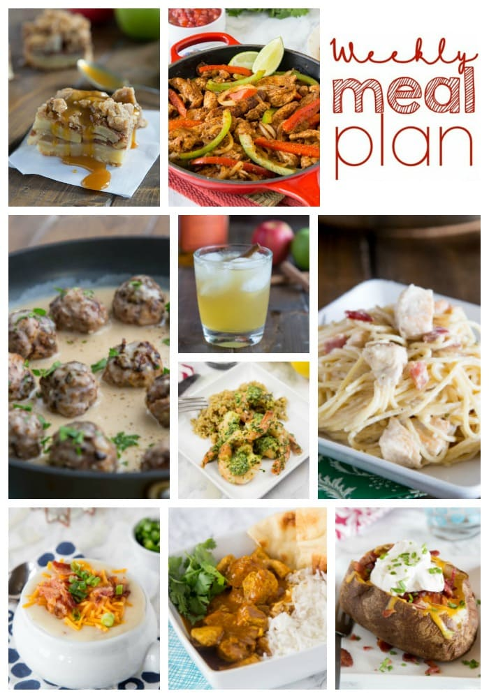 Weekly Meal Plan Week 167 - Make the week easy with this delicious meal plan. 6 dinner recipes, 1 side dish, 1 dessert, and 1 fun cocktail make for a tasty week!