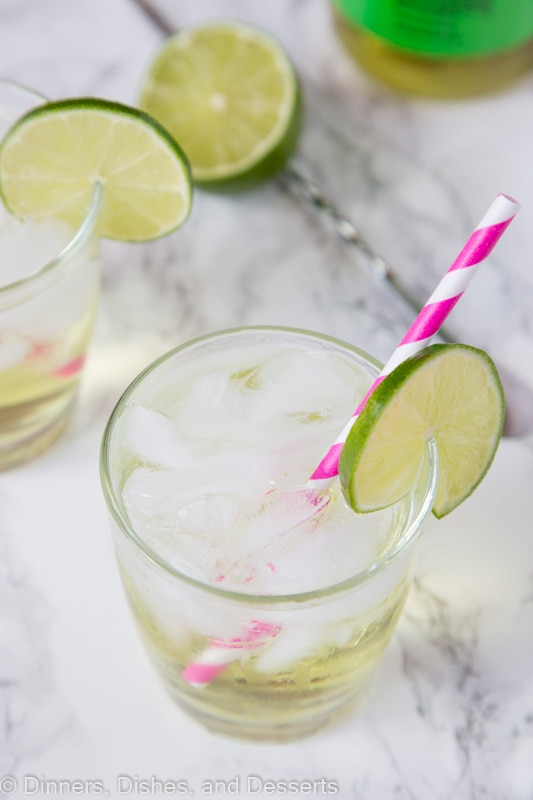 Vodka Gimlet Recipe -  a classic cocktail with sweetened lime juice and vodka. Cool, refreshing, and delicious!