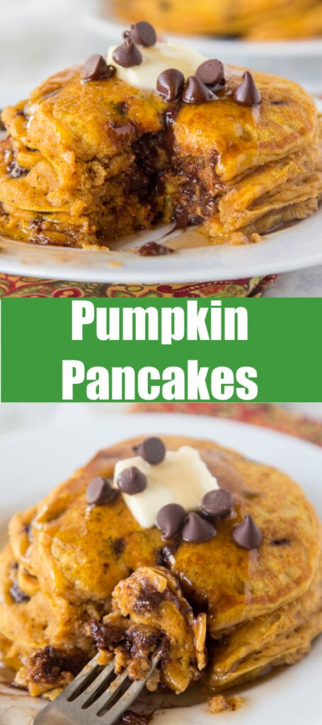 Pumpkin Pancakes close up pinterest collage