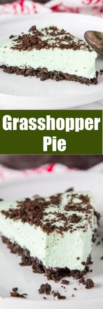close up slices of grasshopper pie