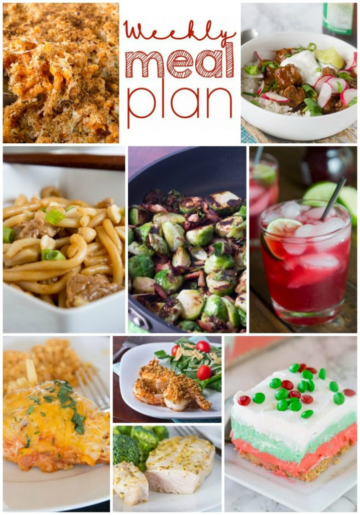 Weekly Meal Plan Week 179 - Make the week easy with this delicious meal plan. 6 dinner recipes, 1 side dish, 1 dessert, and 1 fun cocktail make for a tasty week!