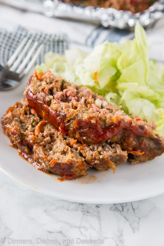 A plate of food, with Meatloaf and Dinner