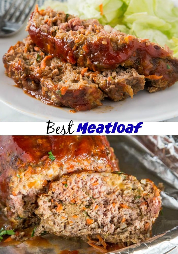 A close up of a plate of food, with Meatloaf and Dinner