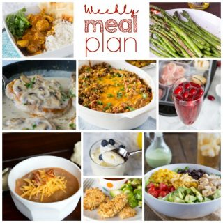 Weekly Meal Plan Week 182