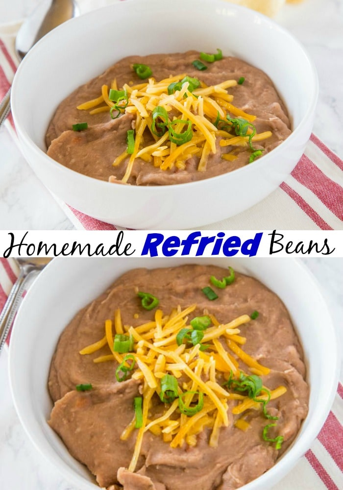 A bowl of refried beans topped with cheddar cheese