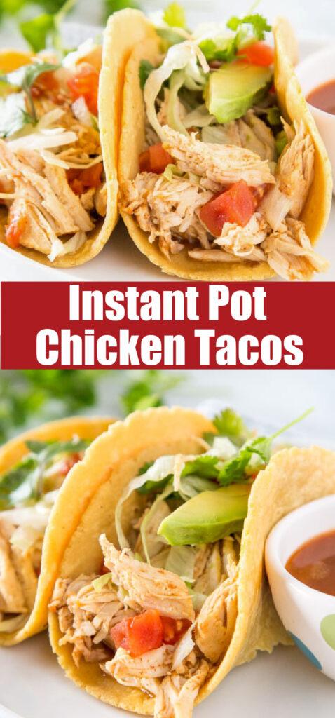 instant pot chicken in tortillas