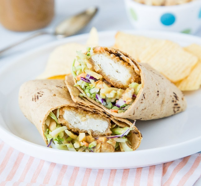 chicken wrap on a plate