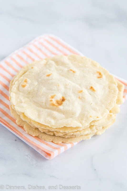 Homemade Corn Tortillas cooked
