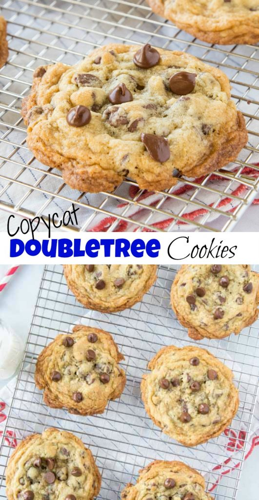 Double Tree Chocolate Chip Cookies - Make the same giant, fresh, warm cookies you get at the DoubleTree hotel at home!  Loaded with chocolate and so good!