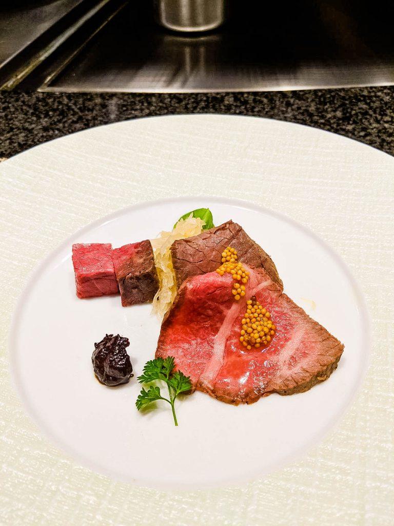 Ginza Steak Wagyu appetizer