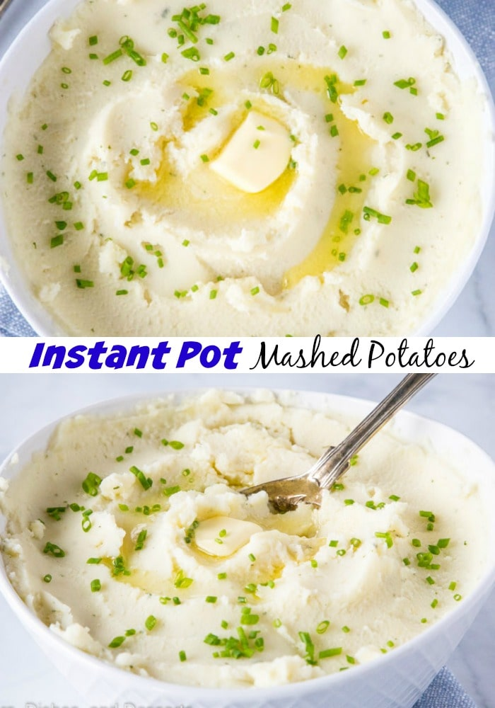 Instant Pot Mashed Potatoes - Make the perfect creamy, tender buttery mashed potatoes with this super easy recipe!