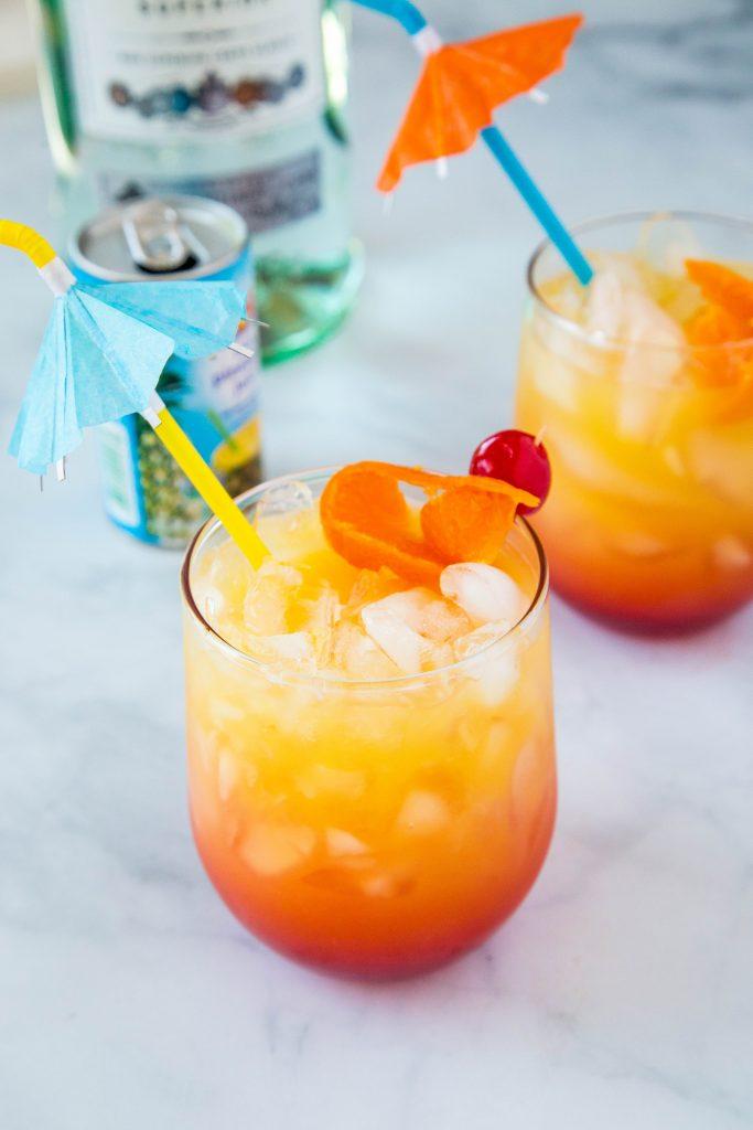 Mai tai with 2 drinks