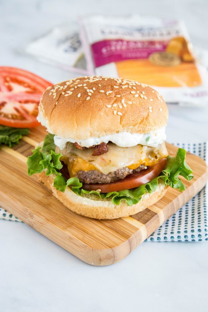 spicy bacon cheeseburger with sauce