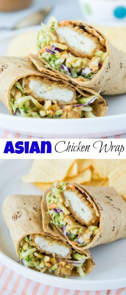 Asian Chicken Wrap Pinterest collage