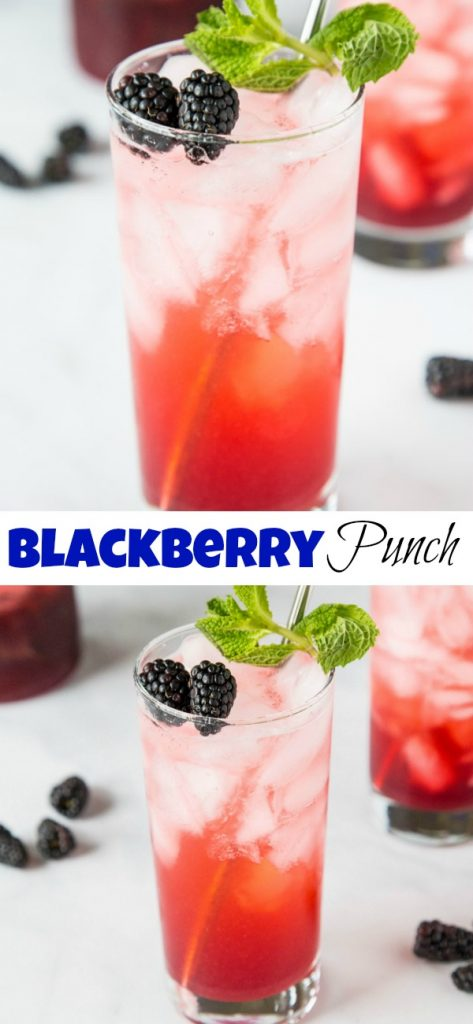 Blackberry Lime Punch - use those fresh blackberries to make a super easy and refreshing punch! Great for parties or just to have in the fridge.