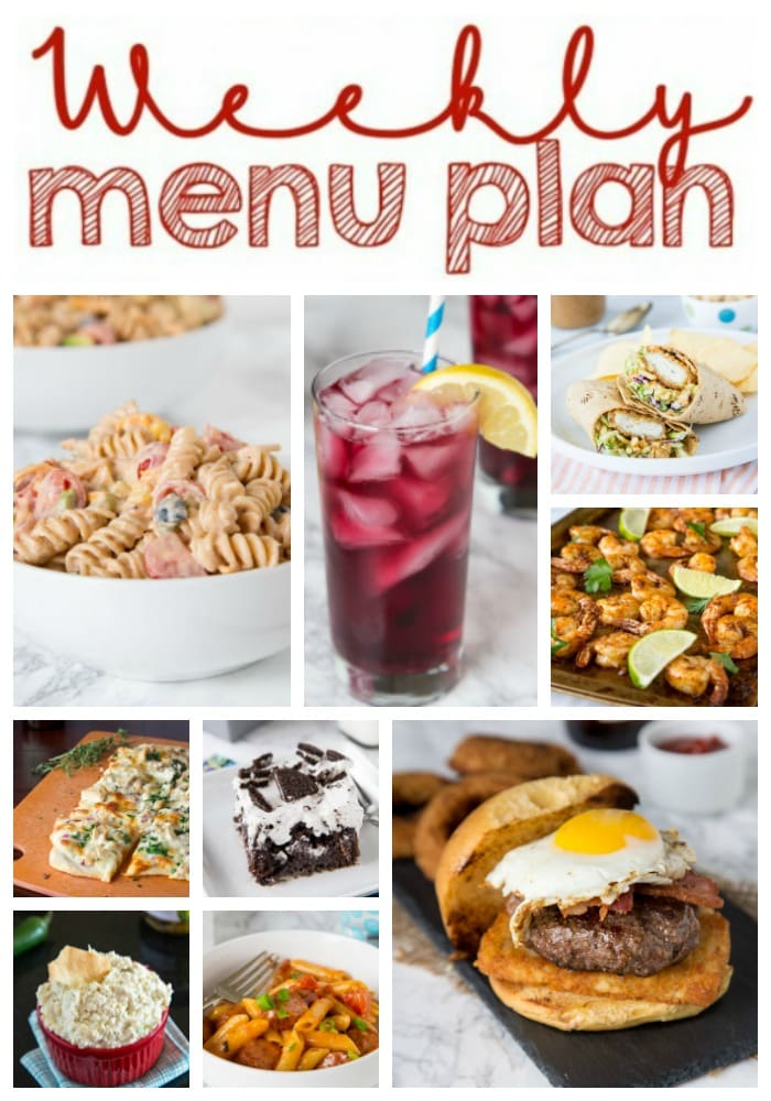 weekly meal plan main collage