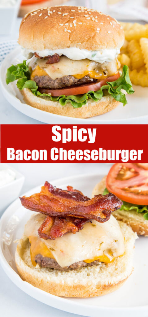 close up of bacon on a cheeseburger