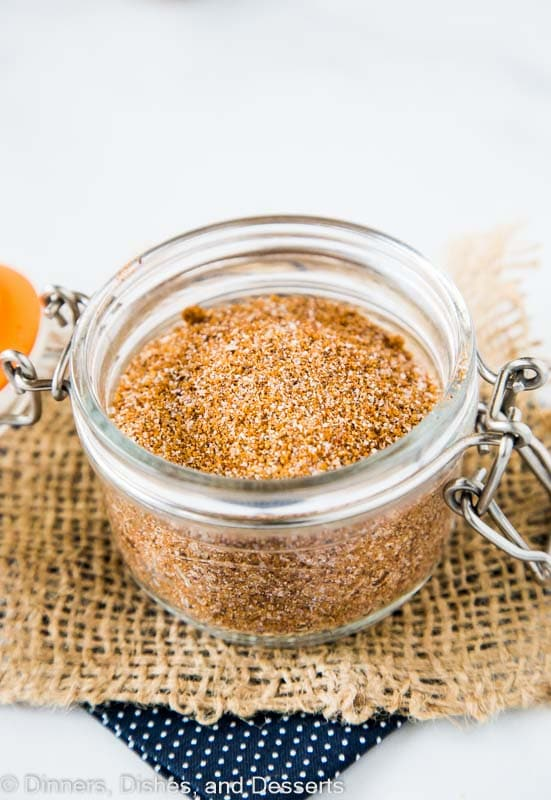 Sweet and smoky bbq dry rub that is great for any meat.  The best rub to have in your pantry