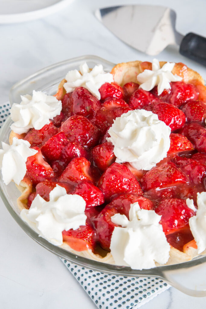 Use fresh summer strawberries for the ultimate dessert! Strawberry pie is a must in the summer