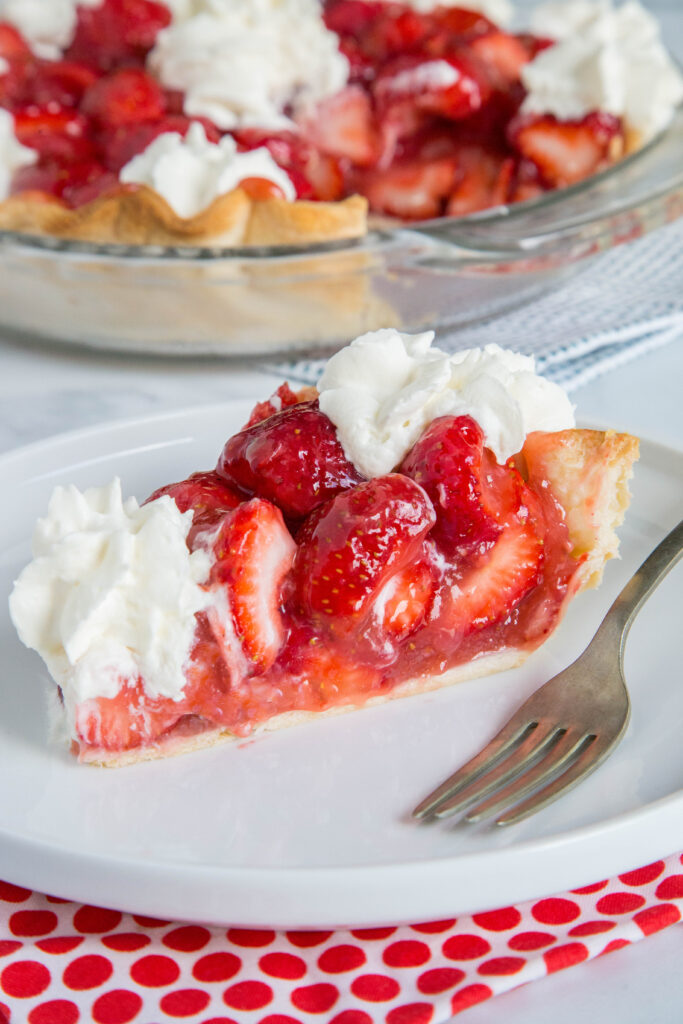 Delicious strawberries make for a great pie with a sweet strawberry pie glaze to bring it all together.
