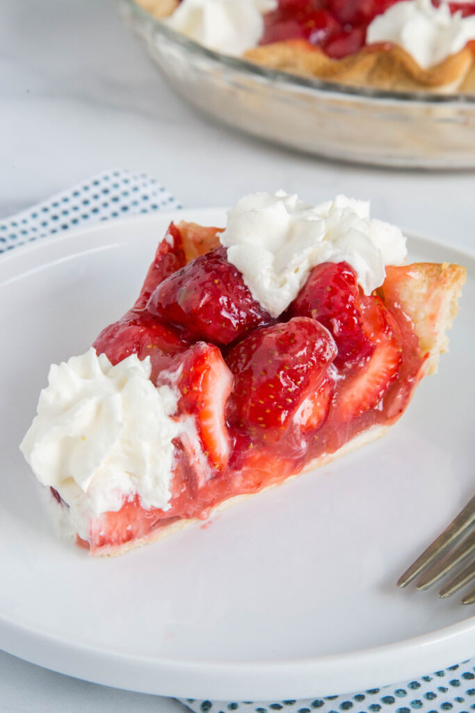 Strawberry Pie without jello is an easy no bake pie that everyone will love