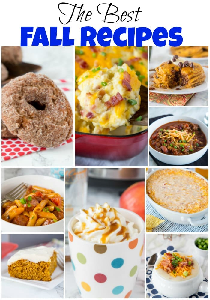 Best Fall Recipes - get ready for fall and all the delicious food! Comfort food, tailgating, and great desserts all make for a tasty fall season!