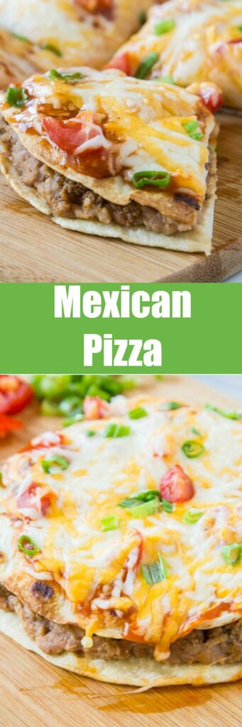 Mexican Pizza - a homemade version of the famous Taco Bell Mexican Pizza, only better! Super easy and a fun dinner the whole family will love.
